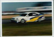 Rickard Rydell during the Donnington Park competition.