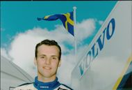 Portrait image of Rickard Rydell taken in conjunction with a Silverstone BTCC competition.