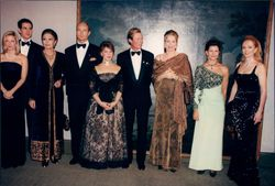Queen Silvia with royals at the Mentor Foundation charity gala