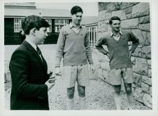 Prince Charles of Wales at his new boarding school Gordonstuen.