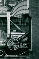 Stephenson's Rocket being transported to its new location.