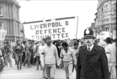 Protest march in Liverpool.