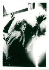 A scene from the film The Fog .