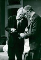 """Björn Gustafsson and Birger Malmsten in Allan Edwalls """"Anyone? Yes, Someone"""" on the Drama"""