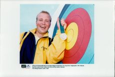 Magnus Peterson took silver in archery during the Olympic Games in Atlanta.