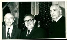 Dr. Henry Kissinger with sir alec Douglas and walter H.