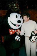 David Hasselhoff with Felix the Cat on Hollywood Christmas parade