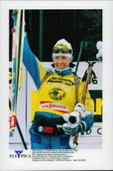 Magdalena Forsberg won 7.5 km sprint in the World Cup.