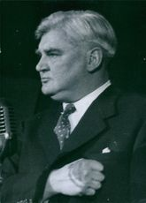 Close up of Politician Aneurin Bevan