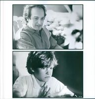 """Michael Nirenberg and David Paymer in a scene of the 1993 American drama film, """"Searching for Bobby Fischer""""."""