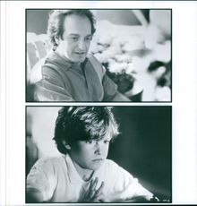 "Michael Nirenberg and David Paymer in a scene of the 1993 American drama film, ""Searching for Bobby Fischer""."