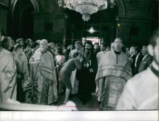 Group of peoples inside the church.1961