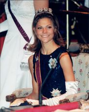 Crown Princess Victoria on Innocence's Gala Dinner at Grand Hotel