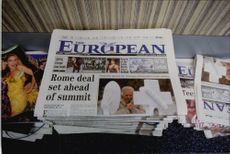 European newspaper.