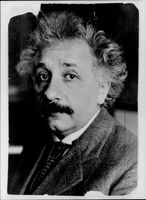 Portrait picture of the professor and physicist Albert Einstein taken in an unknown context.