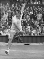 John Newcombe plays in the Wimbledon Championship