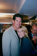 David Hasselhoff with Pamela's wife in Cannes
