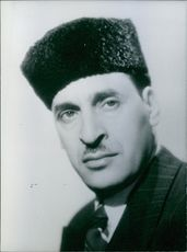 Portrait of Ferhat Abbas.