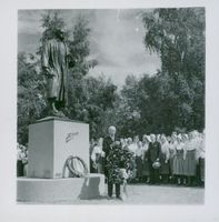 The opening of the Zorn statue in Mora
