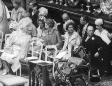 Queen Anne-Marie of Greece with other Royalties during a royal event.
