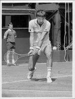 Jimmy Connors in action in Wimbledon