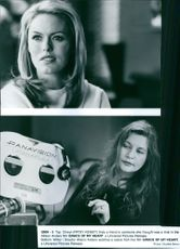 """Patsy Kensit and Allison Anders on the set of a 1996 film, """"Grace of My Heart."""""""