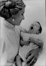 Princess Michael of Kent with the newborn son Fredrick