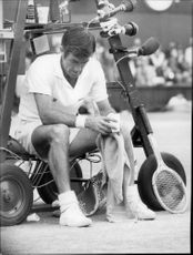 Ken Rosewall was sitting in court during the final against John Newcombe in Wimbledon in 1970