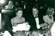 Natalie Hocq and Alain Delon for dinner at Maxim's