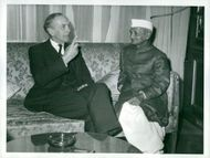 Sir Alec Douglas-Home together with India's Prime Minister Mr. Shastri