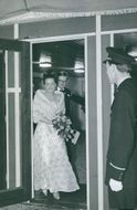 Princess Margriet getting out the door.
