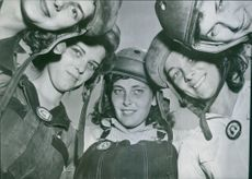 Women's Place in Wartime for these, it's in a U.S. Tank. Here are five pretty tank mechanics at Aberdeen. 1942