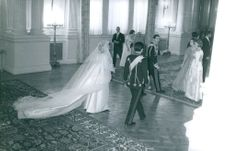 Prince Michael of Greece and Denmark on their wedding day.