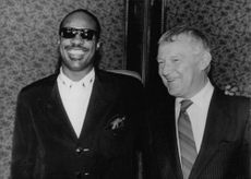 Stevie Wonder Meets Rakowski with a man.