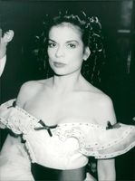 Bianca Jagger, former actress and wife of Mick Jagger seen at a Charity auction.