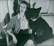 Princess Maria Gabriella with dog.