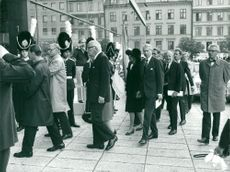 Politicians arrive at the opening of the Riksdag