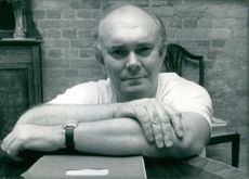 Close up of English playwright and director Alan Ayckbourn