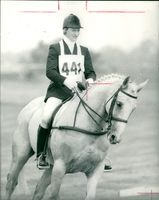 Lucinda Green of Ireland riding her horse 'Shannagh'