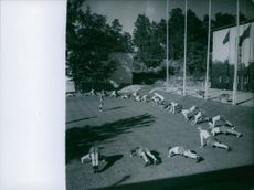 People exercising. 1943