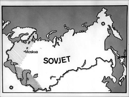 A map of the Soviet Union