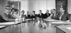 The right-wing party meeting in the Reichstag took part Hakansson, Köhlberg, Skoås, Wingren, Stinesen, Holmberg, Delin, Hellstrom, Cent Erdal, Lundgren and Johansson