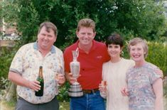 Nick Price with brother Chris, wife Sue, and sister in law Joan.