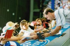 Stefan Edberg signs autographs in Australia