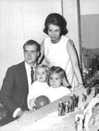 Juan Carlos I with his family.