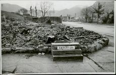 Streets of Norway, destroyed houses.