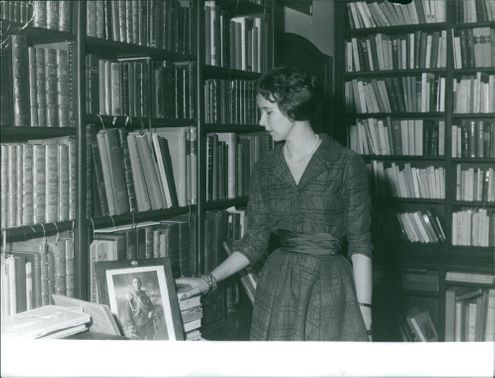 Princess Maria Gabriella in library.