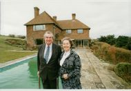 Denis Healey and his wife Edna at their home in Sussex Downs