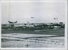 R.A.F. Daylight Attack on Shipping at Rotterdam July  British aircraft fly low over Holland to the attack. 1941