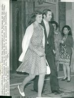 Exkung Konstantin with spouse Anne-Marie of Greece leaves her hotel in London